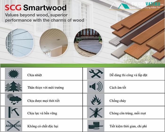 Đặc tính kỹ thuật của hàng rào gỗ trang trí SCG Smartwood
