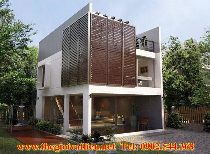 Ứng dụng lam gỗ che nắng Smartwood SCG Thái Lan