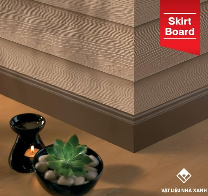 Ưu điểm của len chân tường giả gỗ Smartwood