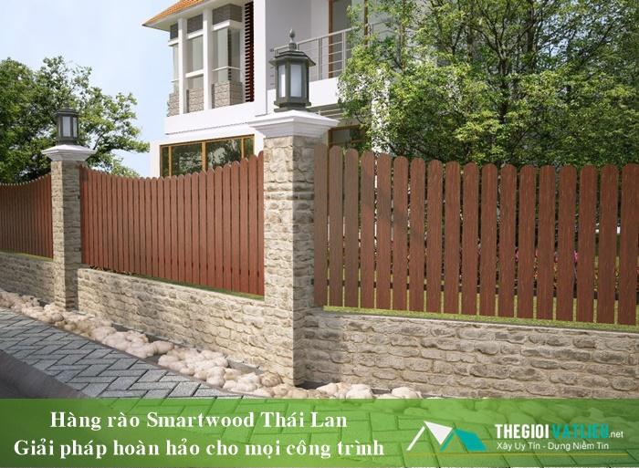 Hàng rào gỗ ngoài trời Smartwood SCG Thái Lan