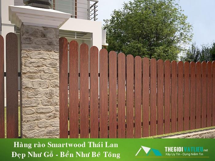 Hàng Rào Gỗ Ngoài Trời Smartwood Giá Rẻ Độ Bền 30 Năm