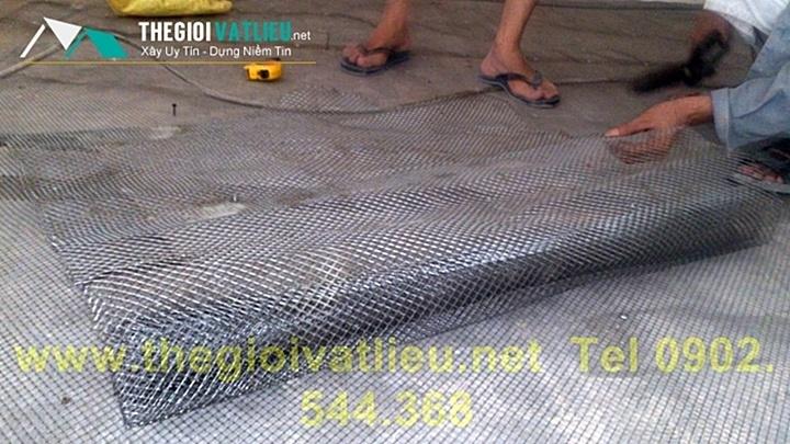 trải lưới tô tường chống nứt