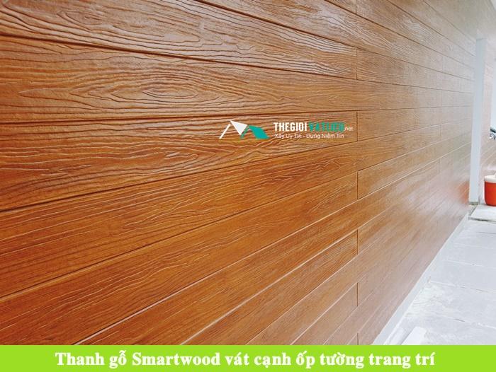 Tấm xi măng giả gỗ ốp tường trần smartwood scg