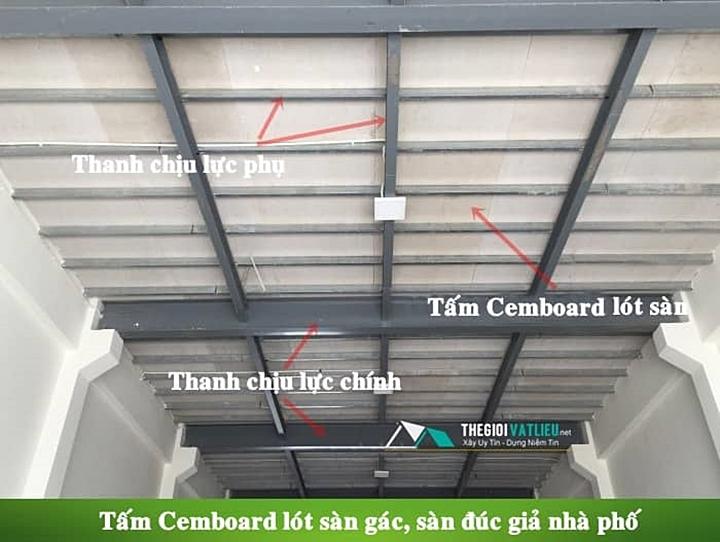Ứng dụng tiêu biểu của tấm ván lót sàn gác lửng Cemboard