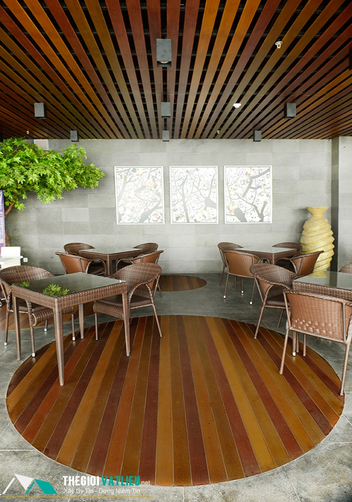 Tấm trần trang trí Smartboard vân gỗ