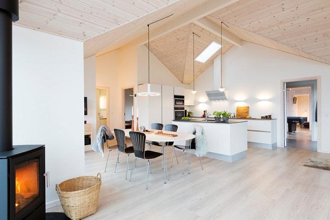 Thiết kế gỗ ốp trần nhà