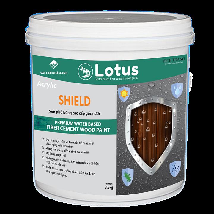 Giá sơn phủ bóng cao cấp Lotus Shield