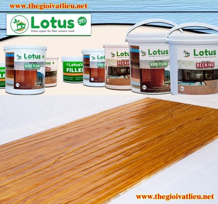 Sơn giả gỗ Lotus cao cấp