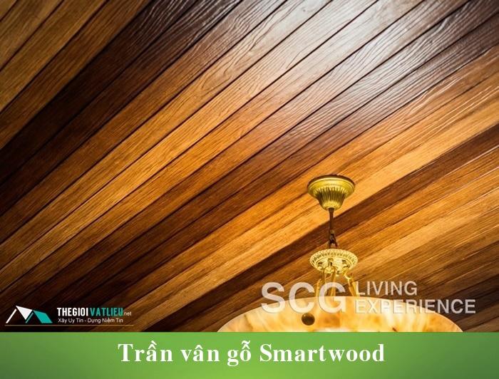 Thanh xi măng giả gỗ Smartwood ốp trần nhà, ban công