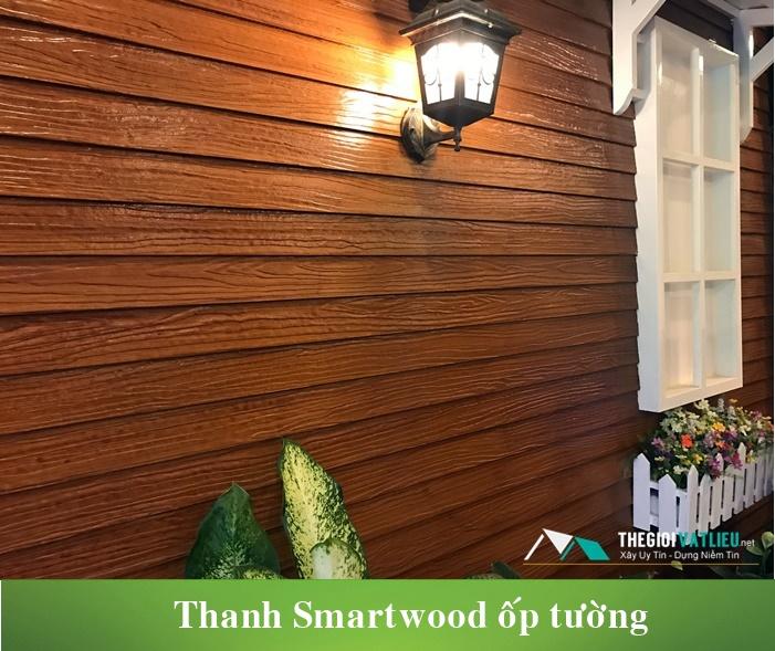 Thanh xi măng giả gỗ Smartwood ốp tường trang trí nội ngoại thất