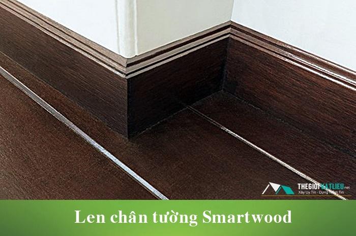Thanh xi măng giả gỗ Smartwood ốp len chân tường