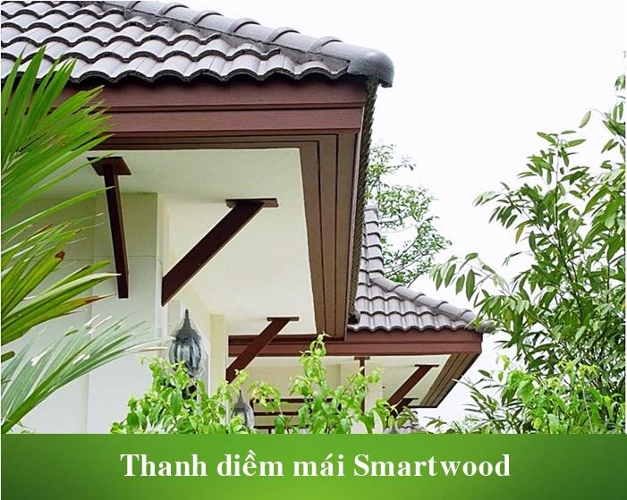 Thanh xi măng giả gỗ Smartwood ốp diềm mái ngói