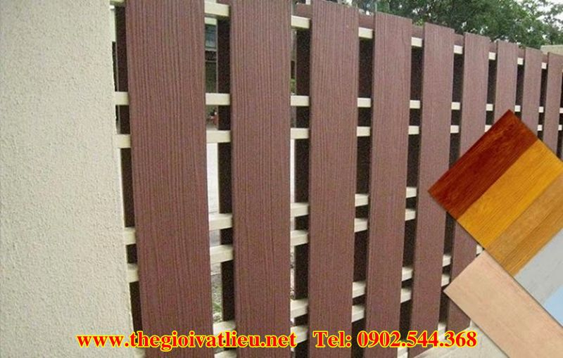 Hàng rào xi măng giả gỗ Smartwood Thái Lan