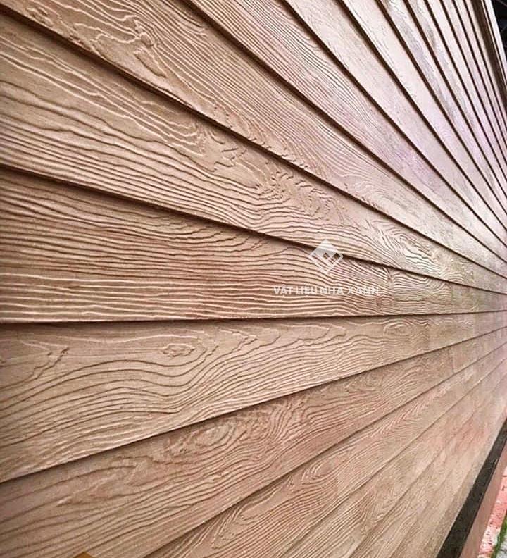 Tấm ốp tường xi măng giả gỗ