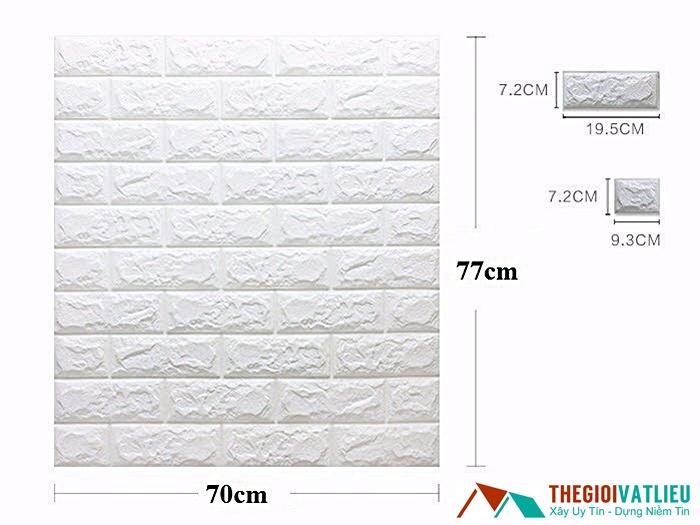Kích thước tiêu biểu của xốp dán tường