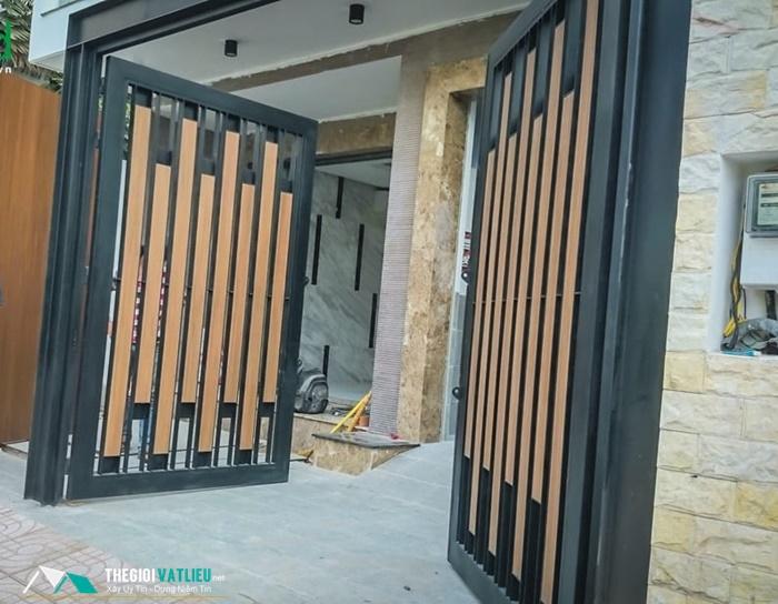Cổng hàng rào gỗ Smartwood