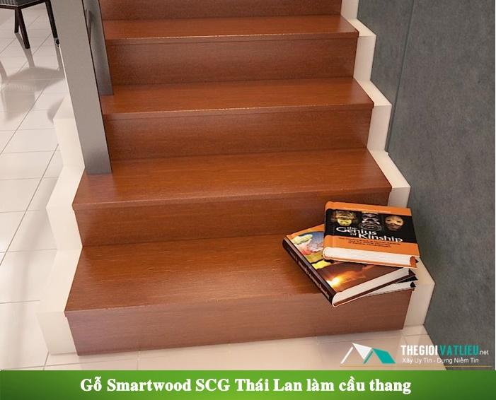 Gỗ Smartwood SCG Thái Lan làm cầu thang gỗ