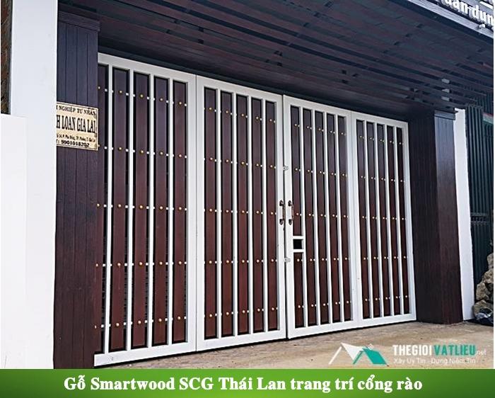 Gỗ Smartwood SCG Thái Lan làm cổng rào gỗ