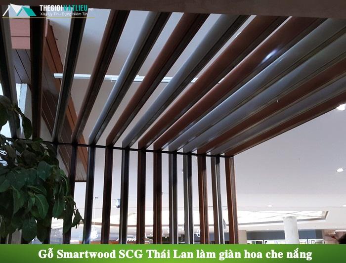 Gỗ Smartwood SCG Thái Lan làm giàn hoa gỗ
