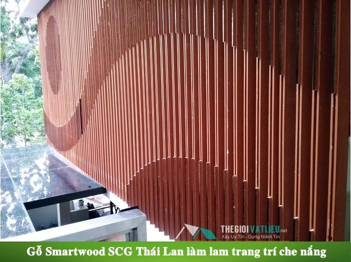 Gỗ Smartwood SCG Thái Lan làm lam gỗ che nắng ngoài trời