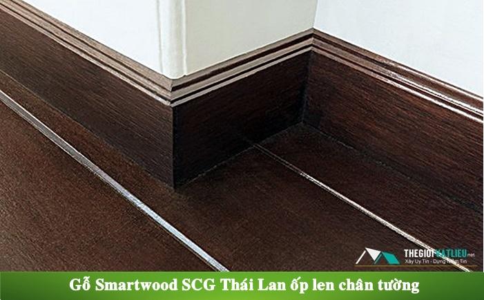 Gỗ Smartwood SCG Thái Lan làm len chân tường