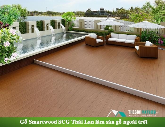 Gỗ Smartwood SCG Thái Lan làm sàn gỗ ngoài trời