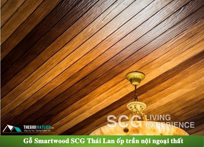 Gỗ Smartwood Ốp trần nhà, trần ban công