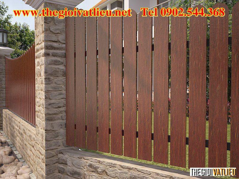 hàng rào bê tông giả gỗ Smartwood