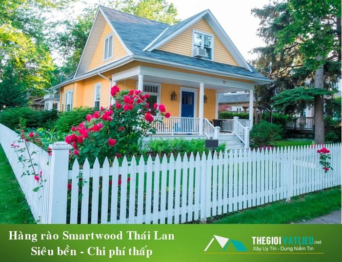 Hàng rào đẹp hiện đại Smartwood