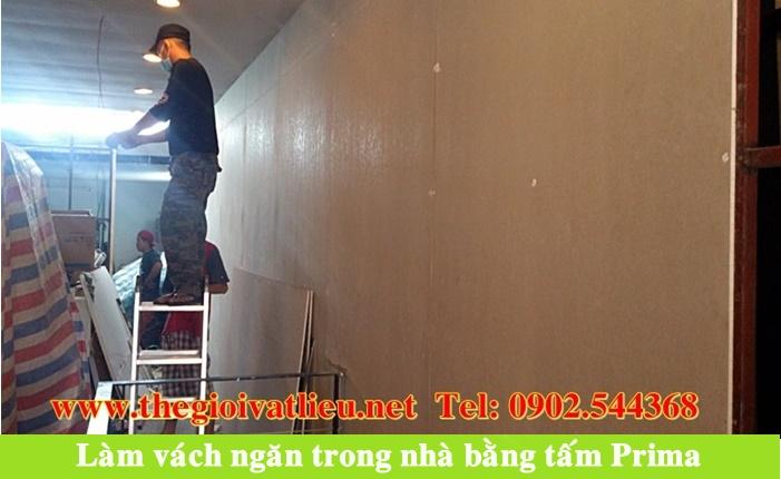 Tấm Prima Malaysia làm sàn trần vách ngăn