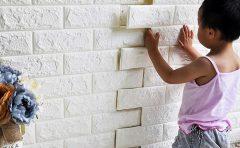 Cách thi công tấm xốp dán tường 3d giả gạch