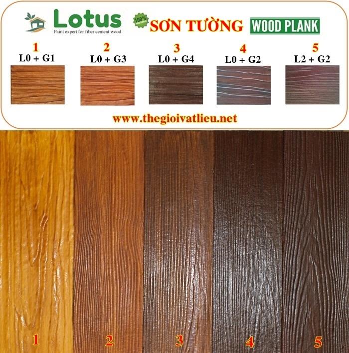 Kỹ thuật sơn giả gỗ lotus