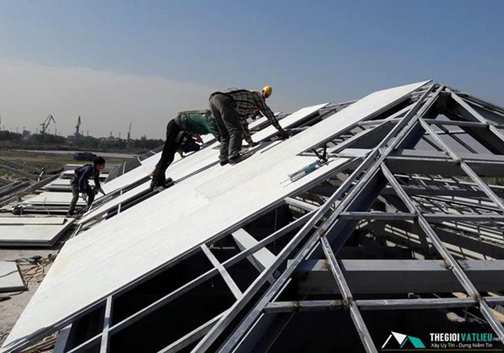 Tấm Cemboard ngoài trời lót mái chống nóng - Lớp nền mái ngói