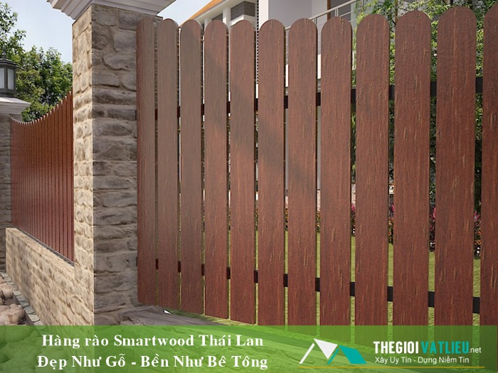 Giá hàng rào gỗ Smartwood Thái Lan