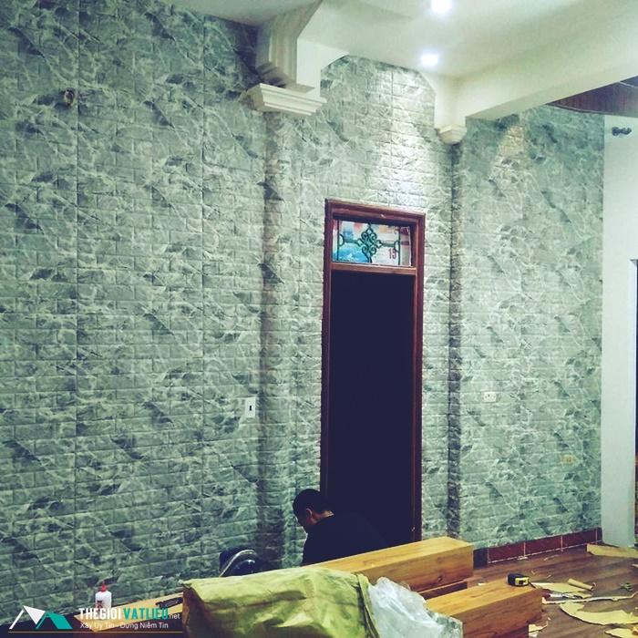 Xốp đá dán tường 3d giá rẻ