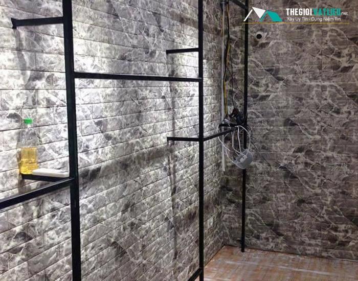 Xốp dán tường 3d giả đá