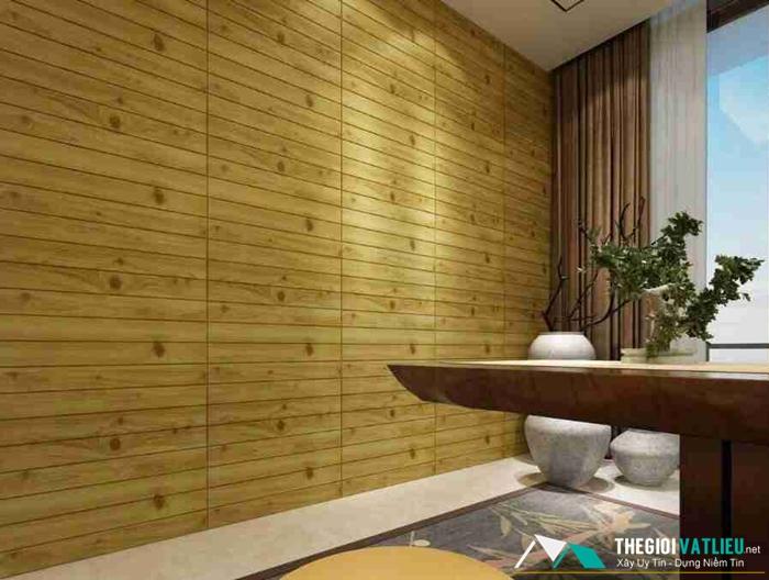 Xốp dán tường 3d giả gỗ