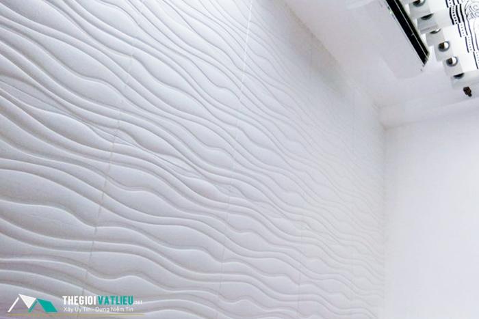 Xốp dán tường 3d vân sóng