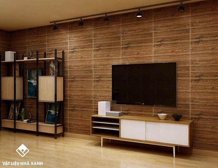xốp dán tường giả gỗ giá rẻ