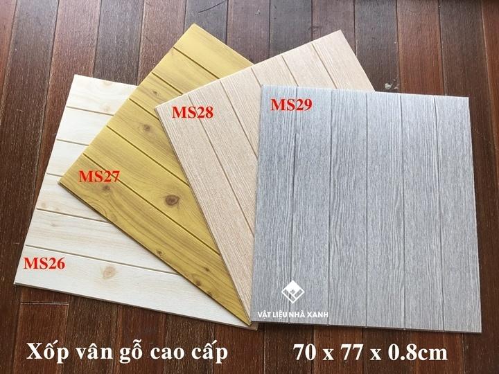 xốp dán tường giả vân gỗ