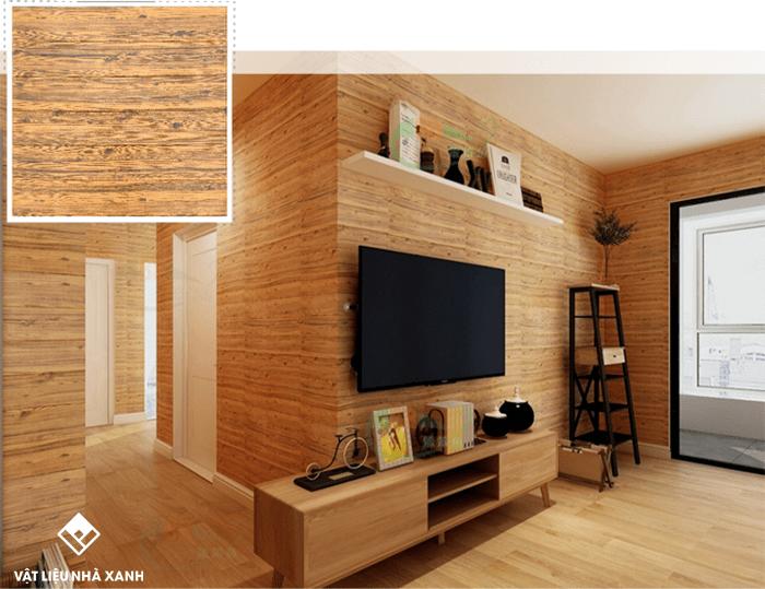 Xốp gỗ dán tường