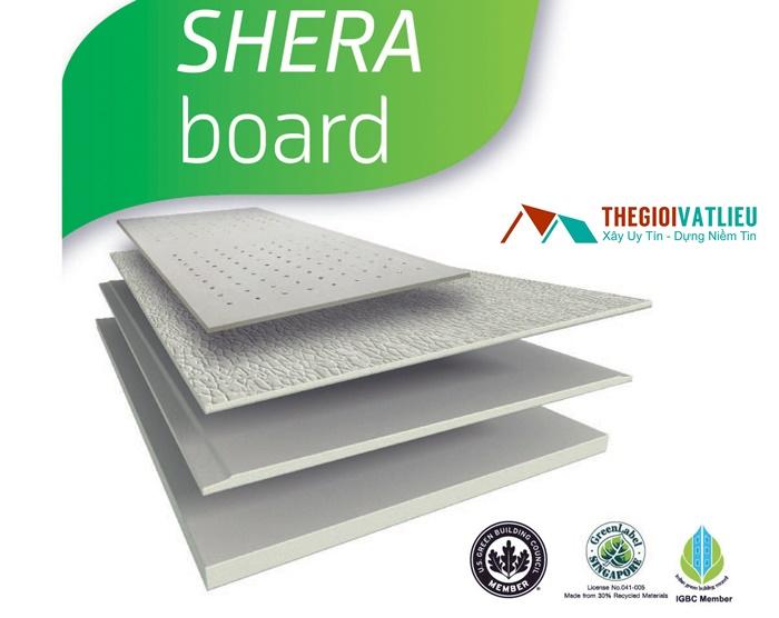 Tấm Shera Board Thái Lan làm sàn vách trần chịu nước giá rẻ