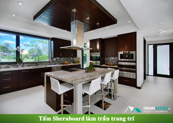 Tấm Sheraboard làm trần