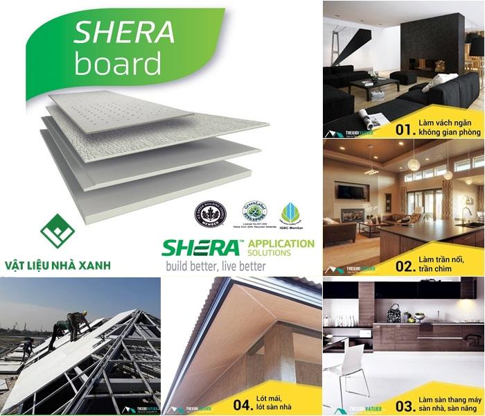 Tấm Shera Board giá bao nhiêu?