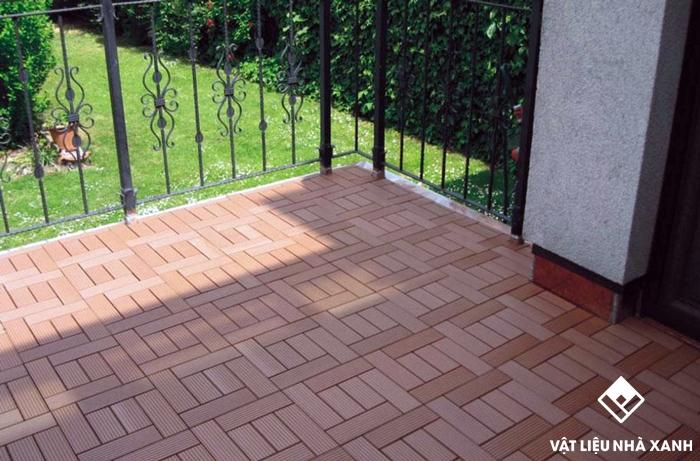 vỉ gỗ nhựa lót sàn sân thượng