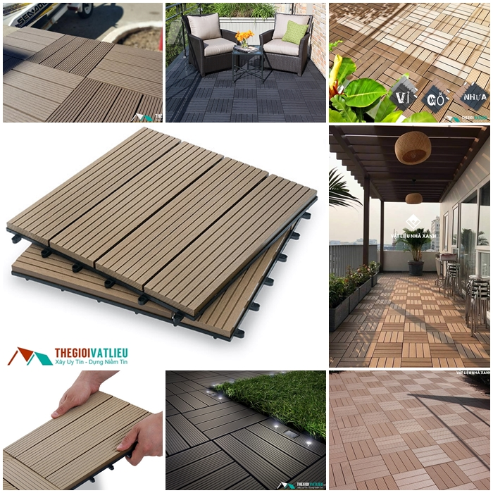 vỉ gỗ nhựa lót sàn tphcm