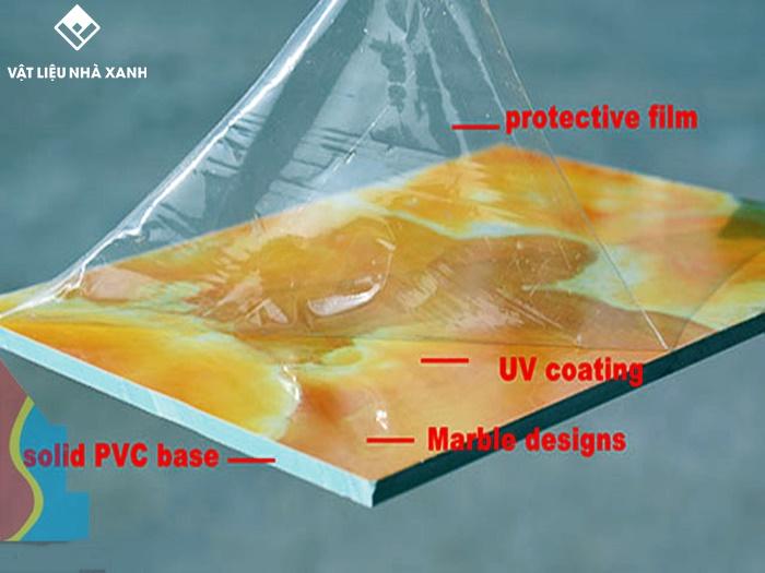 Cấu tạo của tấm PVC vân đá