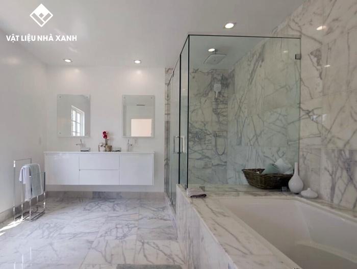 tấm pvc vân đá ốp tường phòng tắm