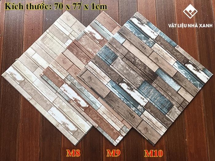 miếng xốp dán tường giả gỗ