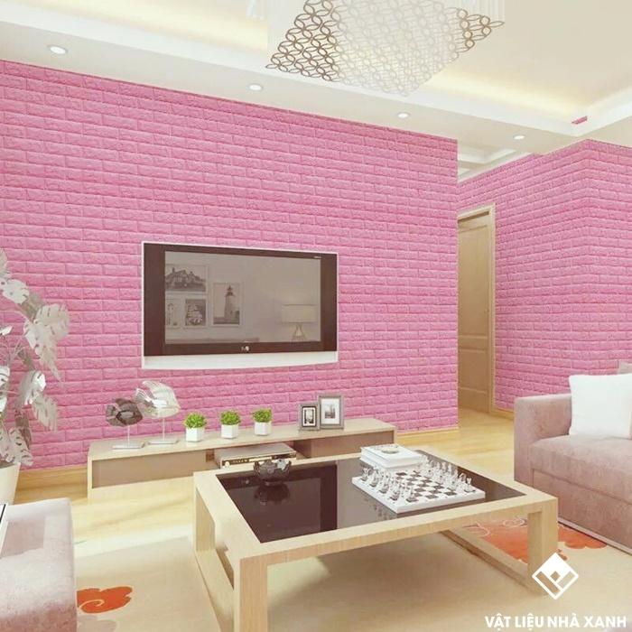 xốp đá màu hồng